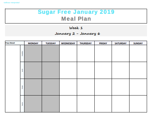 Meal Planning Calendar Tool