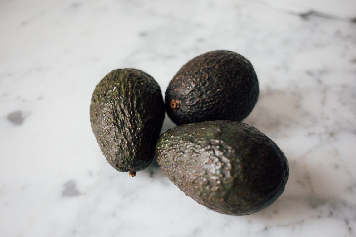 Avocados on counter