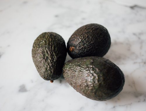 Avocados on counter